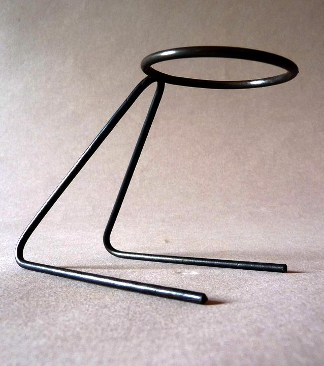 socle tige acier pour vase 3