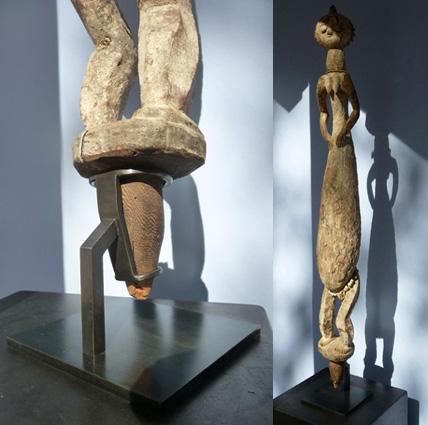soclage acier statuette africaine