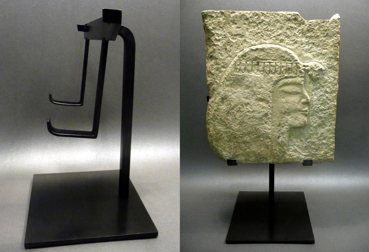 soclage laiton bas-relief égypte