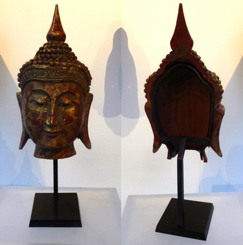 soclage laiton bouddha bois