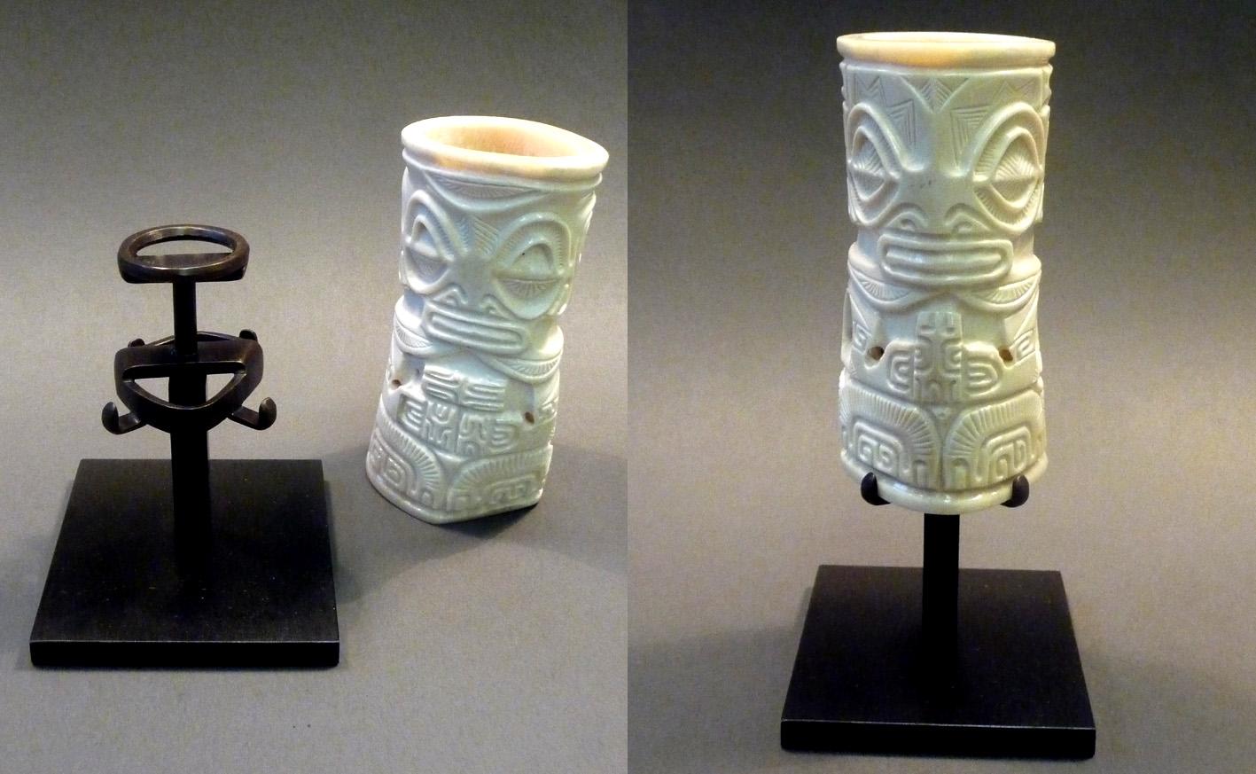 soclage laiton sculpture en os