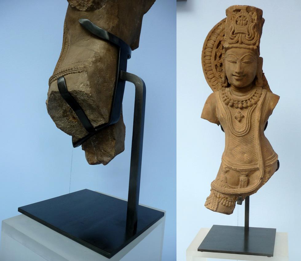 soclage laiton sculpture pierre  inde