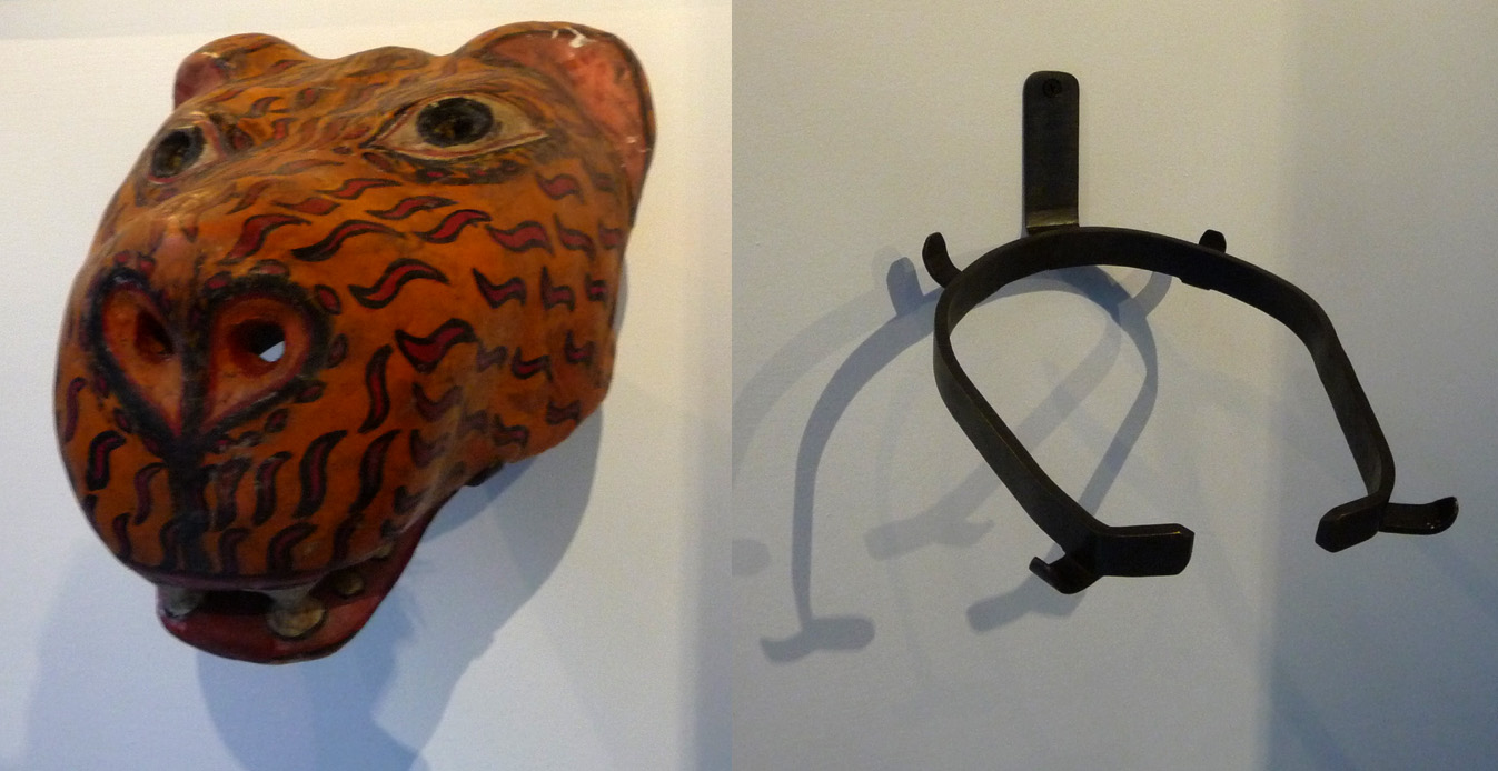 soclage mural masque léopard indonésie